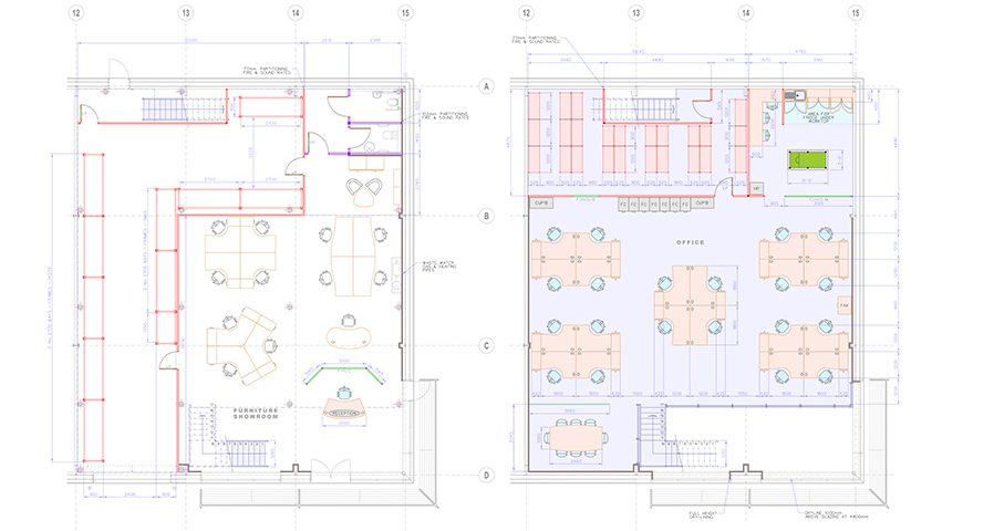 Cad drawing four
